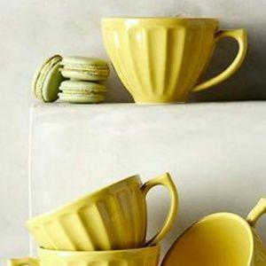 Anthropologie Latte Dinnerware Mug Daffodil